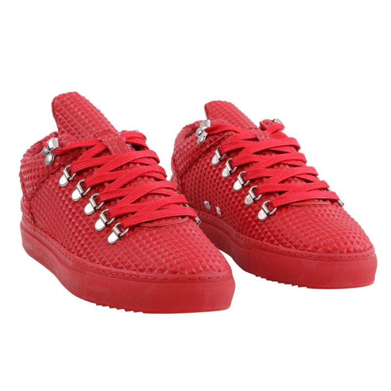 FILLING PIECES Damen LOW TOP MOUNTAIN SPIKE Sneaker Schuhe Red Größe 35