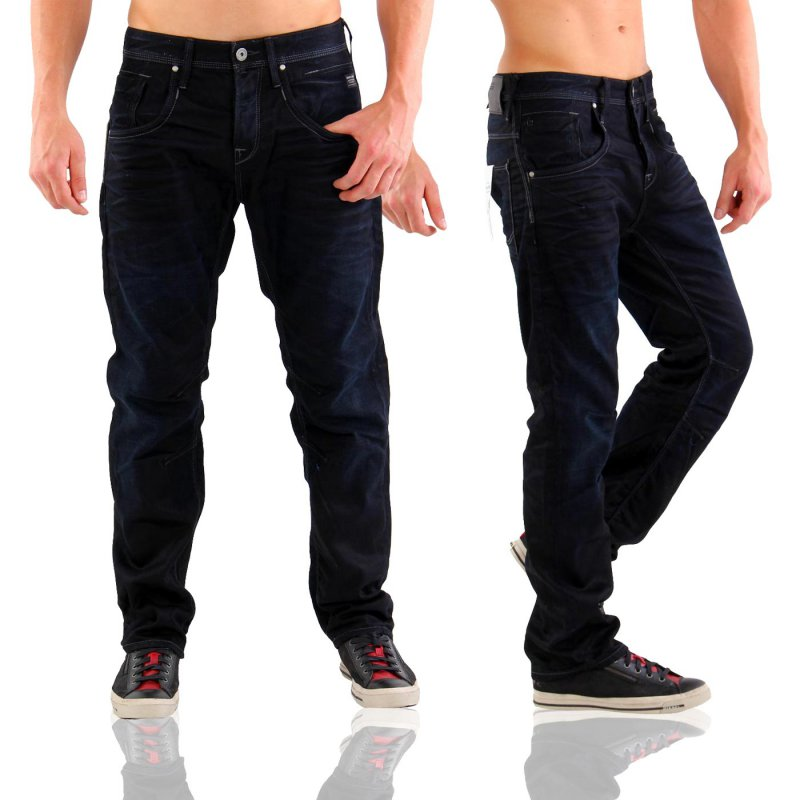 JACK & JONES Herren Denim Jeans Hose BOXY LEED Deep Blue JJ 915 Größe 31/32
