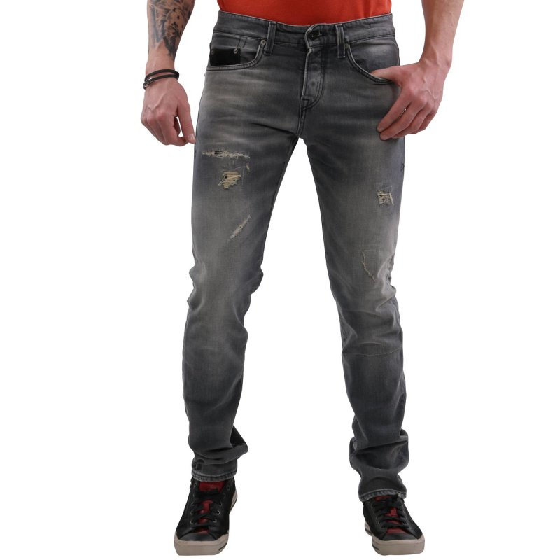 JACK & JONES Herren Jeans Hose Glenn Fox Leather BL390 Grey 2. Wahl Größe 29/34