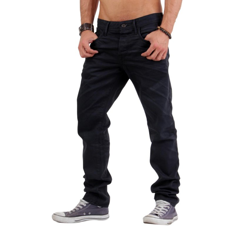 JACK & JONES Herren Jeans Hose MIKE DREW Black BL340 2. Wahl