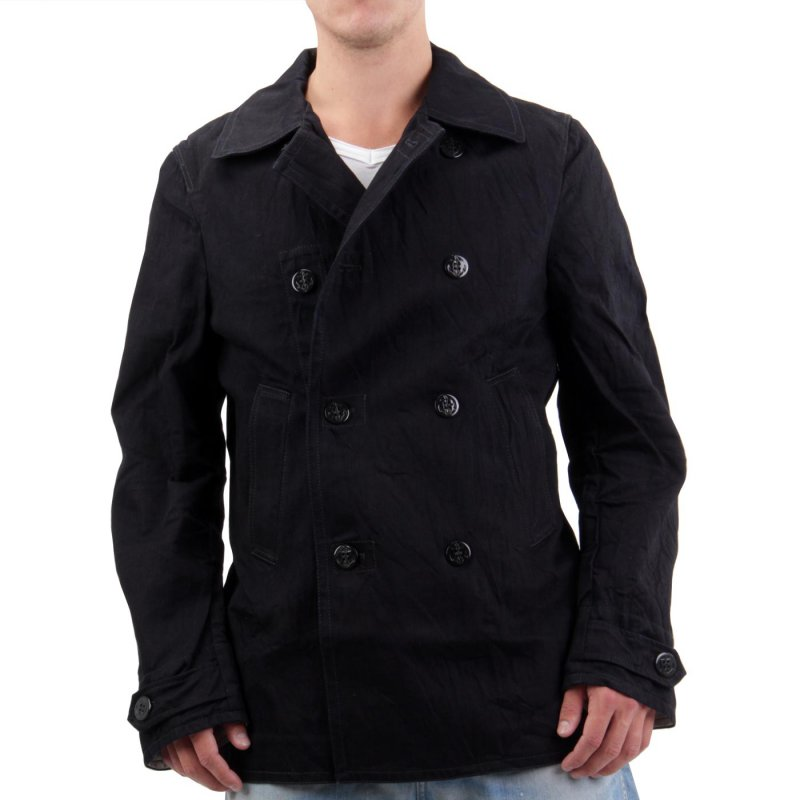 JACK & JONES Herren Jeans Jacke Jerry Peacoat Black BL513 Größe M