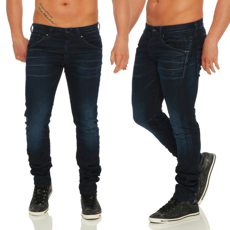 JACK & JONES Herren Slim Jogg Jeans Hose GLENN FOX Dark Blue BL623 Größe 32/34