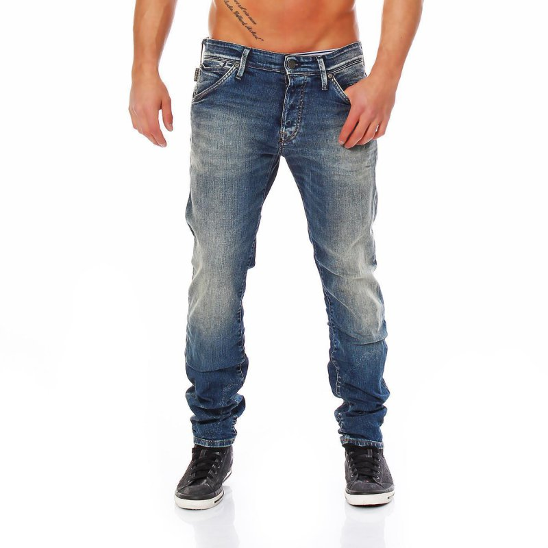JACK & JONES Herren Stretch Jeans Hose GLENN FOX Blue BL344 2. Wahl Größe 32/34