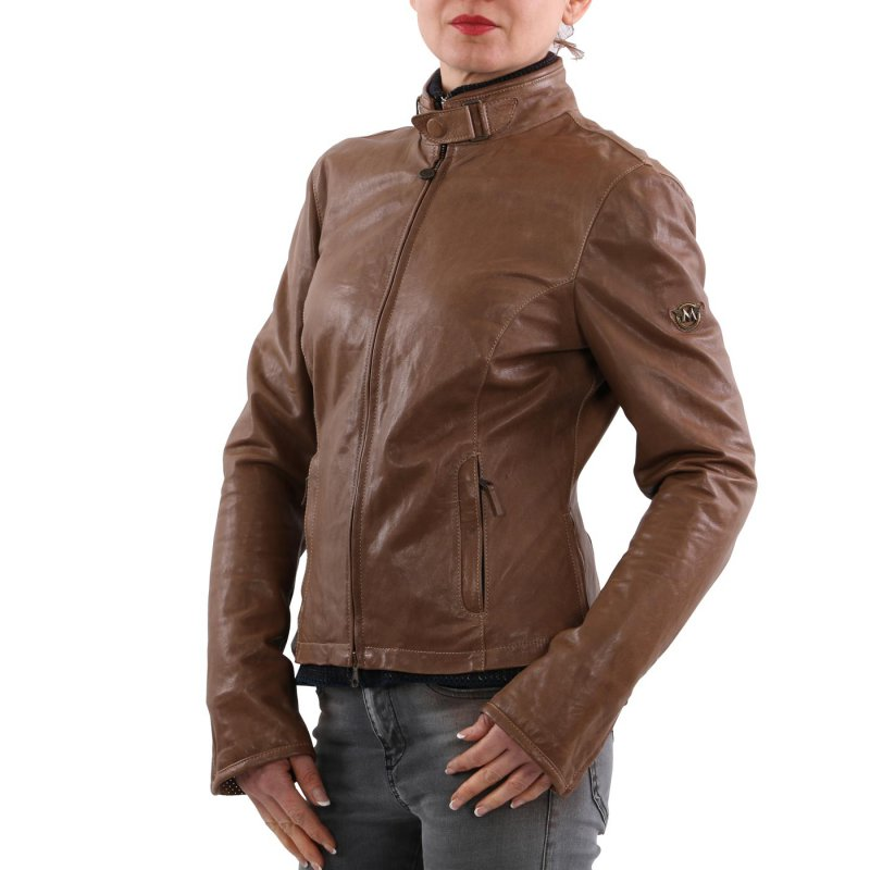 MATCHLESS Damen Leder Jacke OSBORNE BLOUSON Mountain Brown 123116