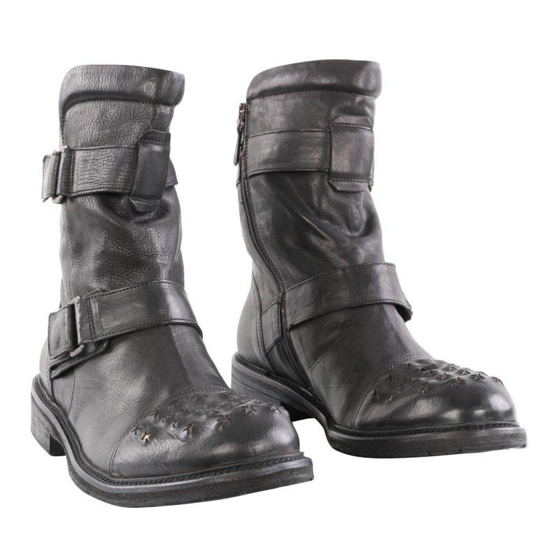 940cbaf4dd3990 Wahl MATCHLESS Damen Leder Stiefel MARLON BOOT Antique Black 142001 2.