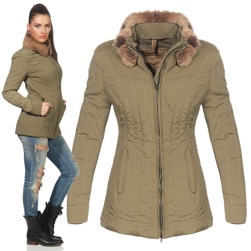 MATCHLESS Damen Übergangs Jacke STIRLING Military Green 120027