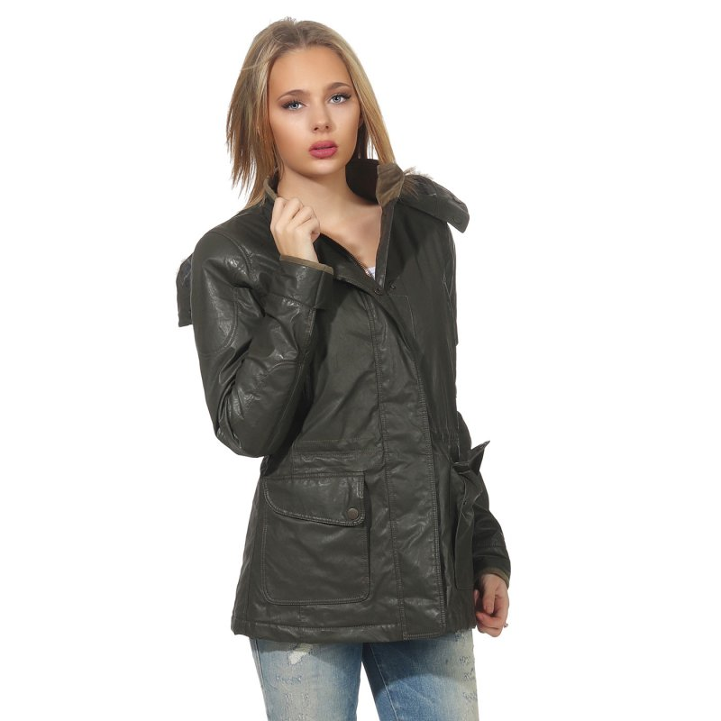 MATCHLESS Damen Übergangs Wax Jacke NOTTING HILL Military Green 120006 Größe (46) L