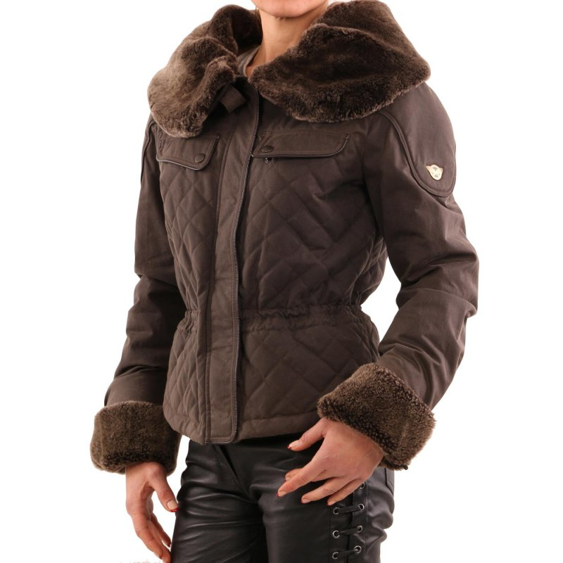 MATCHLESS Damen Winter Wax Jacke WINDSOR BLOUSON Country Brown 120125