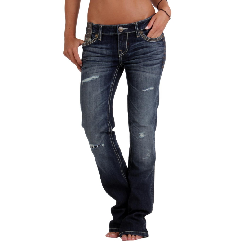 MEK DENIM Damen Jeans Berlin Limited Edition Dark Blue Größe 30/34