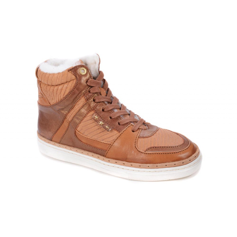 pantofola d oro damen sneaker 4 high hellbraun gr e 37. Black Bedroom Furniture Sets. Home Design Ideas