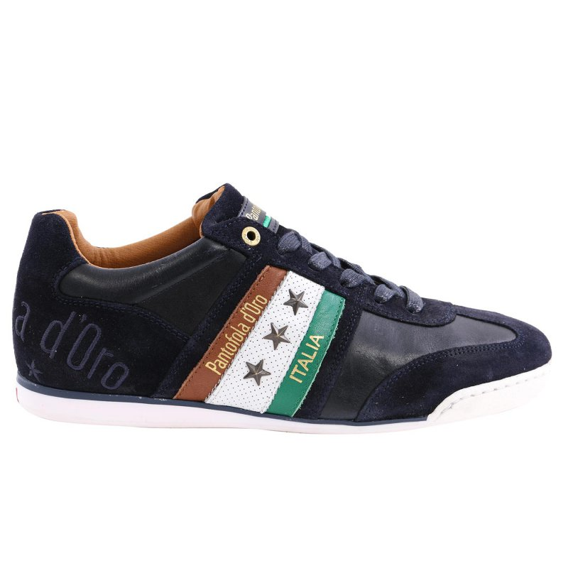 PANTOFOLA D ORO Herren Leder Sneaker IMOLA UOMO LOW Dress Blues 3043.29Y Größe 41