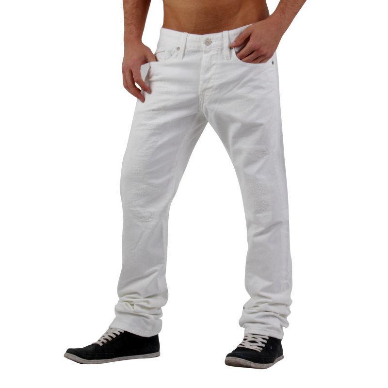 REPLAY Herren Denim Jeans Hose WAITOM White M983 2. Wahl Größe 32/34