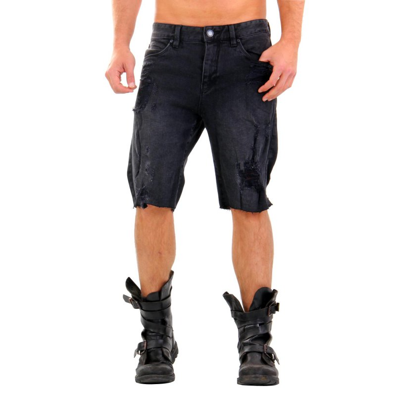 SHINE ORIGINAL Herren Jeans Shorts Black 2-55045 Größe L