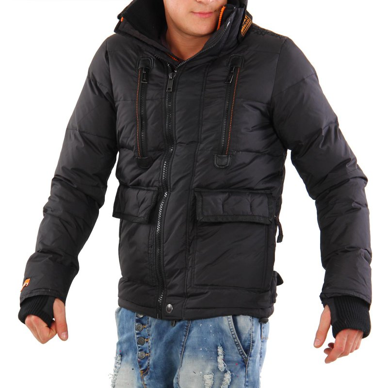 superdry herren winter daunen jacke black mt 2515 2 wahl 99 00 eur. Black Bedroom Furniture Sets. Home Design Ideas