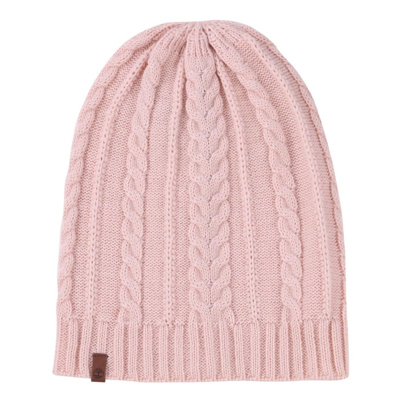 TIMBERLAND Damen CABLE SLOUCHY BEANIE Mütze Cameo Rose A1EGJ Größe One Size