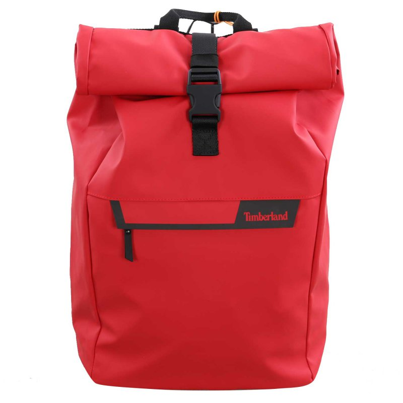 TIMBERLAND Herren Damen Unisex Canfield Roll-Top Rucksack in Rot