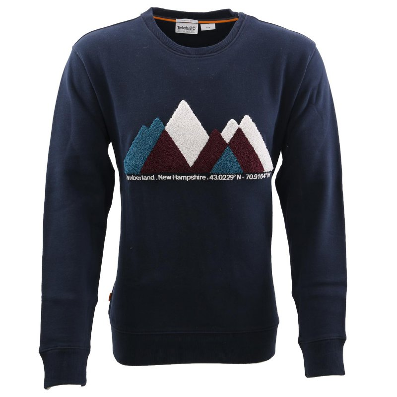 TIMBERLAND Herren EXETER RIVER GRAPHIC Fleece Sweat Shirt Navy A2BEJ Größe M