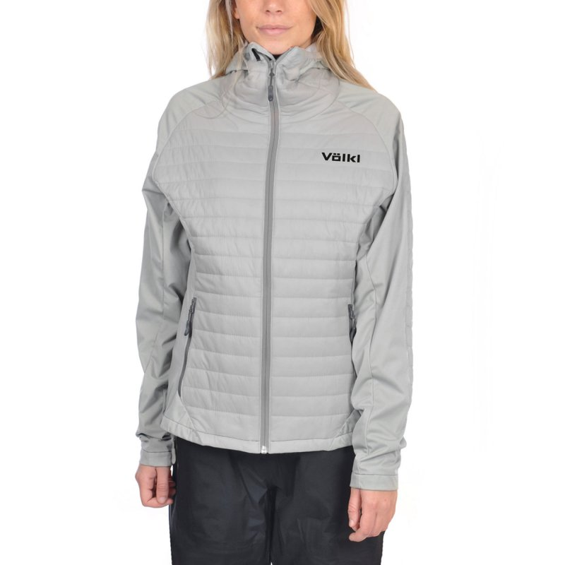 VÖLKL Damen Funktions Ski Jacke PRO STRETCH THINSULATE WM Cement Grey 70021203 Größe M