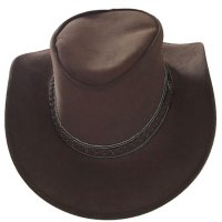 AUSTRALIA Herren Western Cowboy Leder Hut smooth brown Rest - Leder