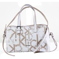 CALVIN KLEIN Damen Tasche Duffle Medium Mogram White 2....