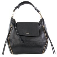 CALVIN KLEIN Damen Tasche IZZY Satchel Big Bag Black Zip 2.Wahl 37