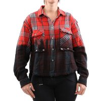 DIESEL Damen Bluse Hemd Shirt C-SUPER-G CAMICIA Red...