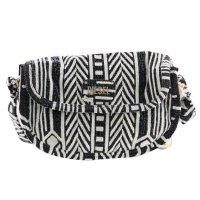DIESEL Damen Hand Tasche D-LIGHT SMALL Black White B01452