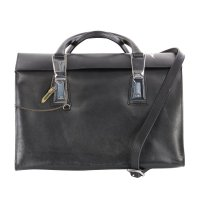 DIESEL Damen Leder Satchel Hand Tasche THROW UP Black...