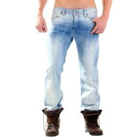 DIESEL Herren Denim Jeans Hose SAFADO Light Blue 0812U