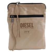 DIESEL Herren Leder Tasche EASY ON THE EYES D Beige X02005