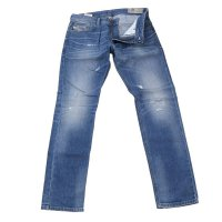 DIESEL Herren Stretch Denim Jeans Hose THAVAR-XP Blue...