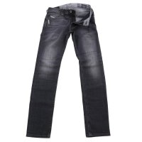DIESEL Herren Stretch Jeans Hose THOMMER Black-Grey 0687J...