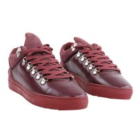 FILLING PIECES Damen LOW TOP MOUNTAIN CUT Leder Sneaker Schuhe D.Red Größe 36