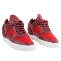 FILLING PIECES Damen LOW TOP Sneaker Leder Schuhe Double Red Bordeaux Größe 36