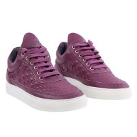 FILLING PIECES Damen LOW TOP Sneaker Leder Schuhe Lila...