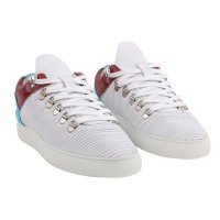 FILLING PIECES Damen LOW TOP Sneaker PLISSEE Leder Schuhe...