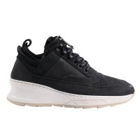 FILLING PIECES Damen Leder Sneaker Schuhe LOW FIELD BOOT SKY TSAATAN Black Größe 37