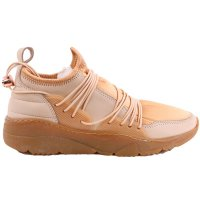 FILLING PIECES Damen Mid Sneaker Low Laced Leder Schuhe RUNNER Beige Größe 37