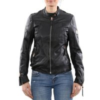 FREAKY NATION Damen Leder Jacke Bluson Black 2. Wahl...