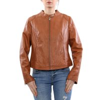 FREAKY NATION Damen Leder Jacke Bluson CAROL Brown...
