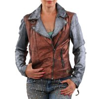 FREAKY NATION Damen Leder Jacke DISCO FEVER Multicolour...