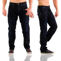 JACK & JONES Herren Denim Jeans Hose BOXY LEED Deep Blue JJ 915
