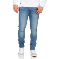 JACK & JONES Herren Skinny Stretch Jeans Hose LIAM ORIGINAL Blue NZ 004