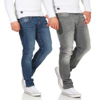 JACK & JONES Herren Skinny Stretch Jeans Hose LIAM ORIGINAL in 2 Farben
