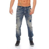 JACK & JONES Herren Slim Knit Jeans Hose GLENN FOX Blue BL471 2. Wahl
