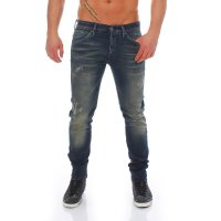 JACK & JONES Herren Slim Knit Jeans Hose GLENN FOX Comfort Blue BL469 2. Wahl