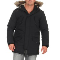 JACK & JONES Herren Winter Parka Jacke ARCTIC Caviar Black 12107909