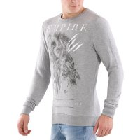 KEY LARGO Herren Sweat Pullover BRITISH EMPIRE Silver Melange 00011 Größe M