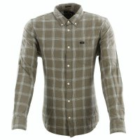 LEE JEANS Herren Langarm Hemd LEE BUTTON DOWN Utility Green L880D Größe M