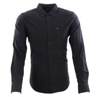 LEE JEANS Herren Langarm Hemd WORKER SHIRT Black L67ZB...
